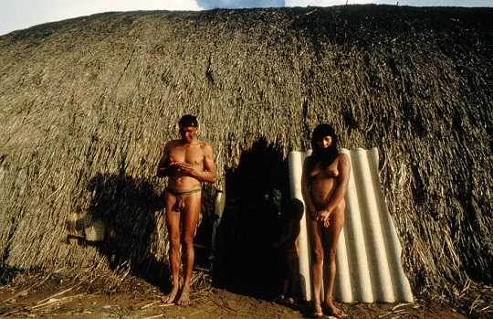 UNSPECIFIED, BRAZIL - CIRCA 1983: Some members of the indigenous people living along the Amazon River circa 1983 in Brazil. (Photo by Frederico Mendes/IMAGES/Getty Images)